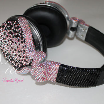 Custom Swarovski Covered DJ Headphones - Any color, design, any brand.