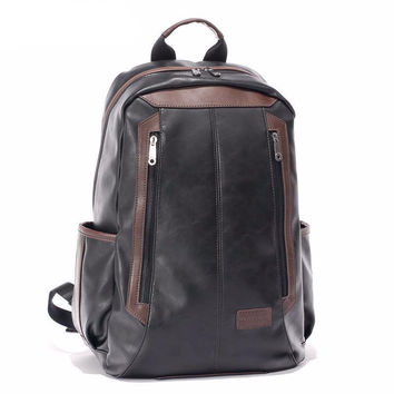 Leather Double Zip Backpack