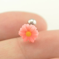 cartilage earring,tragus earrings,daisy cartilage tragus helix earring