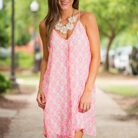 Always A Favorite Dress, Neon Pink