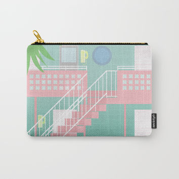 Motel Paradise Carry-All Pouch by Claudia Duarte