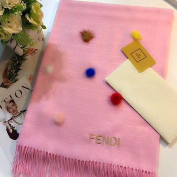 LMFUP0 FENDI Women Fashion Wool Scarf Shawl Scarf Scarves-3