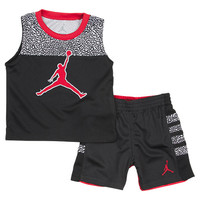 Infant Jordan Split Level Elephant Shorts Set