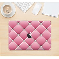 """The Pink & Diamond Pinned Cushion Skin Kit for the 12"""" Apple MacBook"""