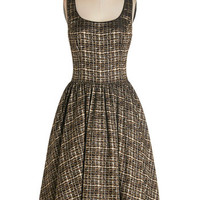 ModCloth Sleeveless Fit & Flare Classic Chanteuse Dress