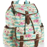 Stripe Floral Backpack