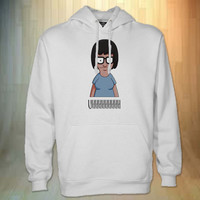 tina belcher logo hoodie black for men and women