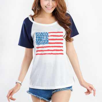 05d4e5b3f American Flag Shirt Fourth of July T Shirt Women Hipster Tumblr TShirt Cute  Fresh Instagram Fashion