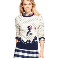 Women's Wool Ski Intarsia Sweater | Brooks Brothers