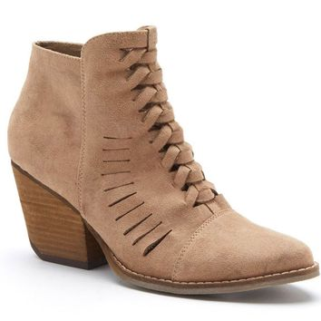 Coconuts by Matisse Ally Natural Cut-Out Booties