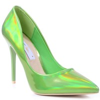 Metallic Green Classic Pointy Toe High Heel Stiletto Pumps Womens Shoes