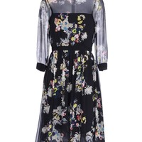 Erdem Silk Floral Dress - Silk Dress - ShopBAZAAR