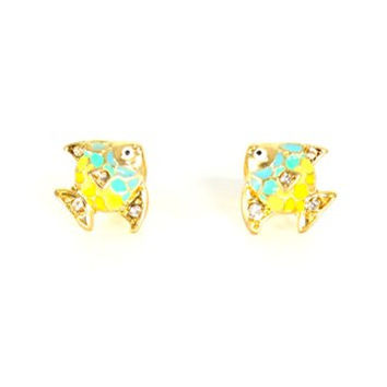 Angelfish Stud Earrings Coral Reef Sea Tropical Fish EF48 Pave Crystal Posts Fashion Jewelry