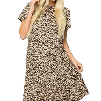 Celeste Leopard Flow Dress