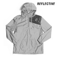 Vector Windbreaker Jacket // Reflective Silver - Imperial Motion