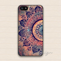 Mandala iPhone 5 5s Case,iPhone 4 4s Case,iPhone 5C Case,Samsung Galaxy S3 S4 S5 Case,Minority Totem Floral Flower Hard Rubber Cover Case