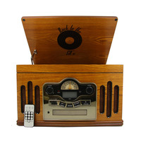 MGear 'Back to the 50's' Antique Wooden 3-speed Turntable with CD Player | Overstock.com Shopping - The Best Deals on Turntables