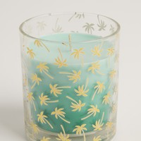Foiled Palm Tree Coconut & Vanilla Candle | 3-Wick Candles | rue21