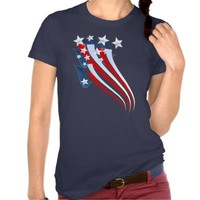 Sweeping American Flag T-Shirt from Zazzle.com