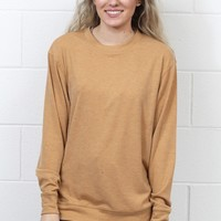 Basic Hacci Rib Long Sleeve {Almond}