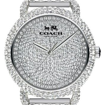 COACH 'Delancey' Crystal Bracelet Watch, 36mm | Nordstrom
