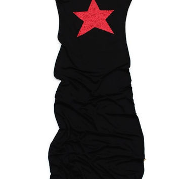 Sequin Star Maxi Tank Dress