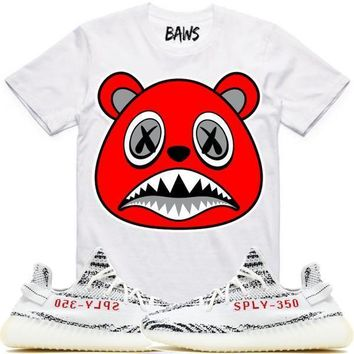 ANGRY BAWS Sneaker Tees Shirt - Yeezy 350 Boost Zebra