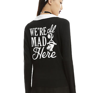 Disney Alice In Wonderland We're All Mad Here Girls Cardigan