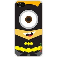4GDCM-28W iPhone 4S 4G iPhone4 At&t Sprint Verizon Funny Cartoon Despicable Me Minions as Superheroes Avengers Batman Hard Case Cover with eBayke Logo:Amazon:Cell Phones & Accessories