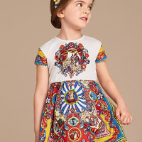 Wl Monsoon Girl Dress  Spring Carretto Siciliano Baby Girls Clothes Luxury Brand Princess Dress for Kids Clothes Girls Costumes 3-12Y