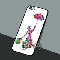 Mary Poppins Silhouette - iPhone 7 6 5 SE Cases & Covers #cartoon #disney #MaryPoppins