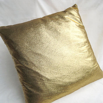 Modern Chic Distressed Gold Pillow Cover. Gold Distressed Cushion Cover. Bling. Decorative Sparkly Pillow