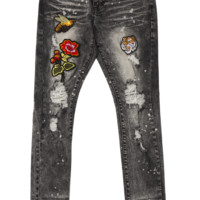 PATCHED DENIM PANTS