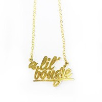 A Lil' Bougie Nameplate