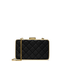 Elsie Quilted Box Clutch Bag, Black - MICHAEL Michael Kors