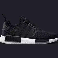Adidas originals NMD R1 Men- Runner Black White Monochrome Mesh Boost