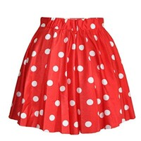 Lantomall Women's Polka Dot Pattern Comfort Short Skirt Stretch Mini Dress
