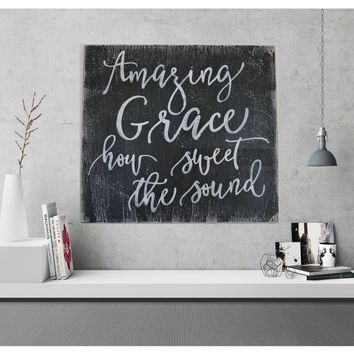 Amazing Grace How Sweet The Sound Faith And Inspiration Wall Decor