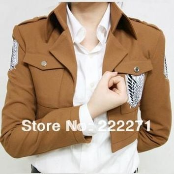 Cool Attack on Titan no   Scouting Legion Cosplay Costume Jacket  Only +  Track AT_90_11