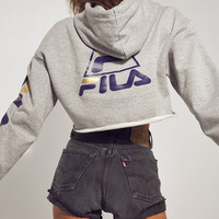 FILA + UO Basketball Cropped Hoodie Sweatshirt | Urban Outfitters