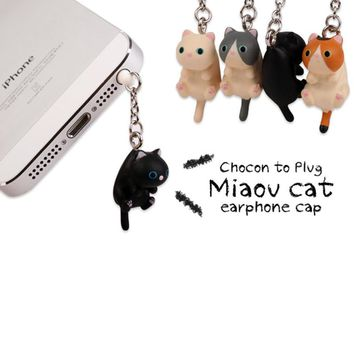 Funny Cute Cat Dust Plug For Phones - iPhone 5s, 6m 6sm Xiaomi, Vivo - Universal for 3.5mm