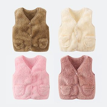 PPXX 2019 Winter Children Vest Fur Baby Waistcoat Kids Light Vest for Girl Boy Toddler Children Clothes Fur Jacket sleeveless