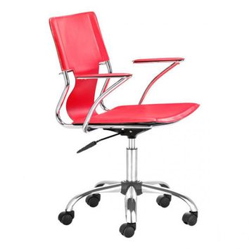 ZUO Modern Trafico 205184 Office Chair Red
