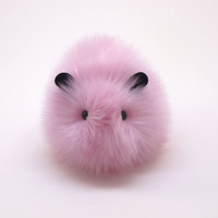 Fluff the Light Pink Guinea Pig Stuffed Animal Plush Toy