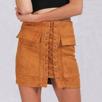 Layla Lace Me Up Skirt