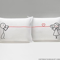 Say I Love You® Matching Couple Pillow cases, Christmas Gifts for Her, Gifts for Him, for Boyfriend, for Girlfriend, His and Hers Gifts, Couples Gifts, Valentine's Day, Anniversary, Long Distance Relationship