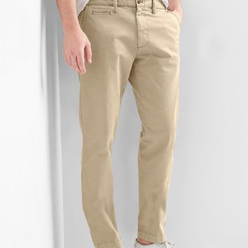 Vintage wash slim fit khakis (stretch) | Gap