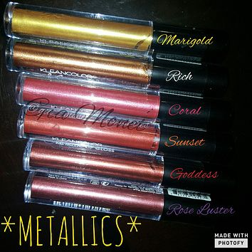 Metallic Matte Lipgloss - Golden shades