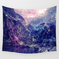 Galaxy Mountains : Deep Pastels Wall Tapestry by 2sweet4words Designs