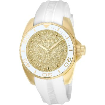 Invicta Women's 22703 Angel Quartz 3 Hand Gold Dial Watch